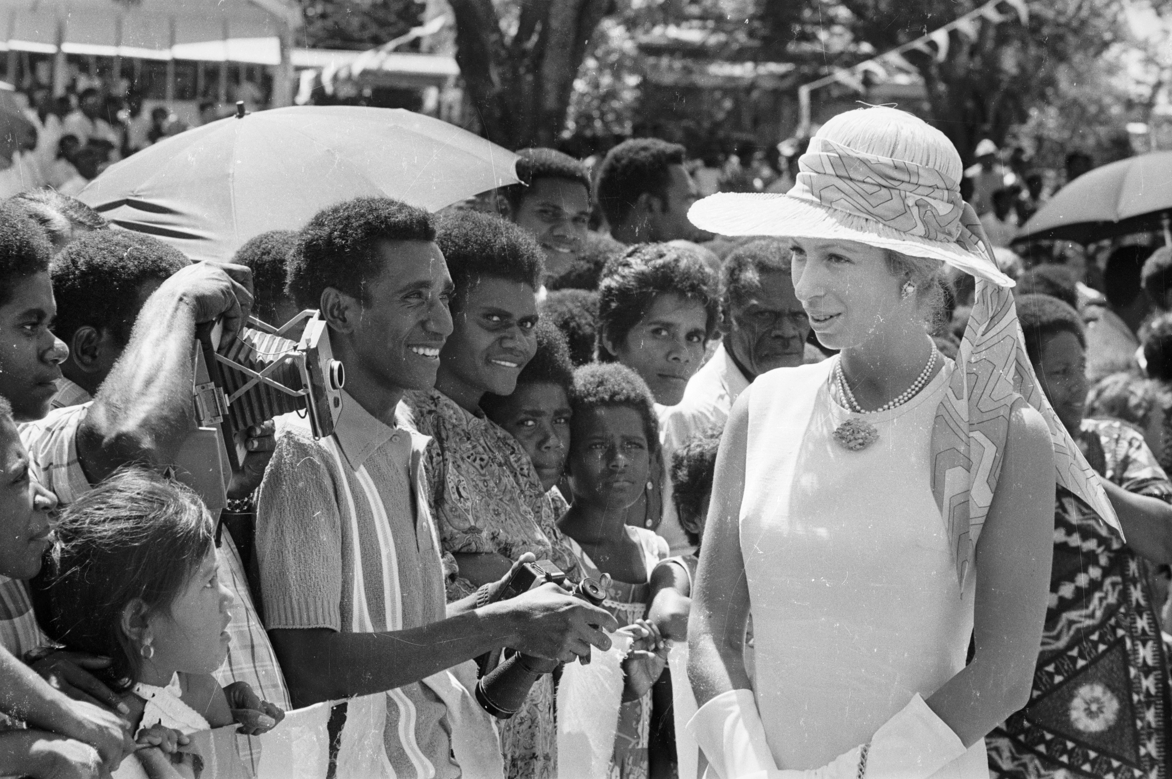 Princess Anne visits in 1974.