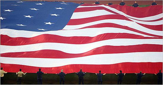 American Flags as Big as Fields
