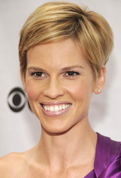 Hilary Swank at Fashion Rocks: Hair and Makeup