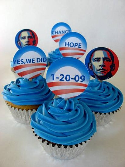 Lil Links: Obama Toppers For Your Tot's Inaugural Cupcakes