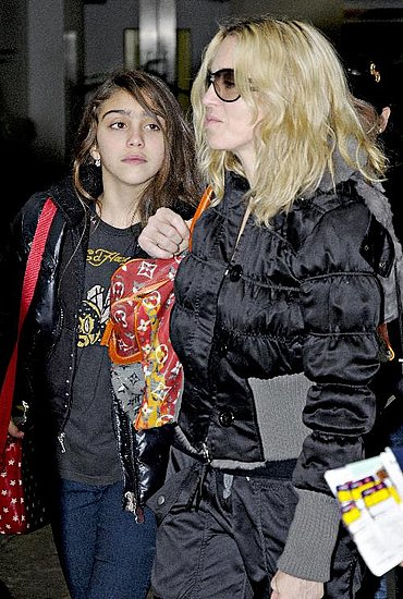 Madonna and Lourdes at Heathrow Airport
