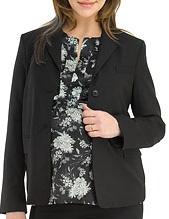 Tropical Wool Blazer With Ribbed Jersey Trim ($395)