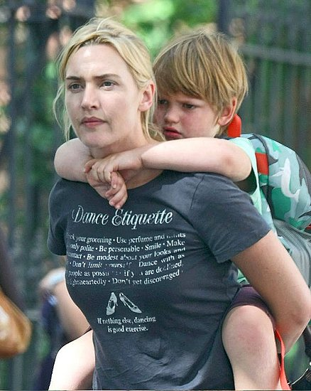 Photo of Kate Winslet & her Son  Joe Alfie Winslet Mendes