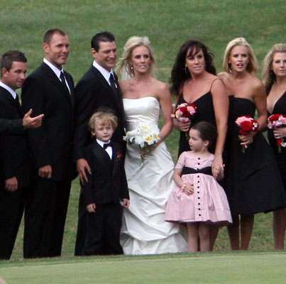 Jenny McCarthy and Son Evan Asher Suit Up to Play Bridesmaid and Ring Bearer For Her Sister's Colorado Wedding