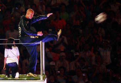 David Beckham Kicks Forward to the 2012 London Olympics