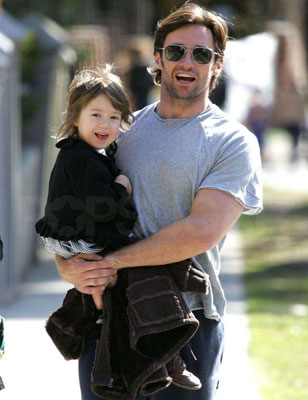 Ava and Daddy Hugh Enjoy Some Sunshine