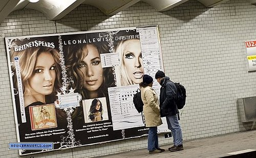 Photoshop street art points out facial flaws (Britney Spears, Leona Lewis and Christina Aguilera)