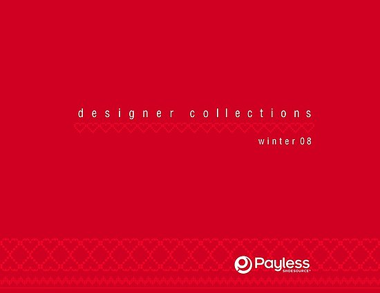 Payless Designer Line Sheets Holiday 2008