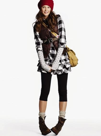 Flannel Ruffle Dress $44.50, Victoria's Secret