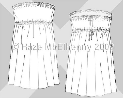 Design & Development: Poly-Morphic Tie-Back Strapless Dress/Skirt