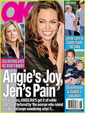 Angelina Jolie On The Magazines