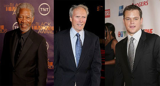 Damon and Eastwood Join Freeman For Nelson Mandela Movie