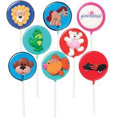 Sample lollipops to accompany books