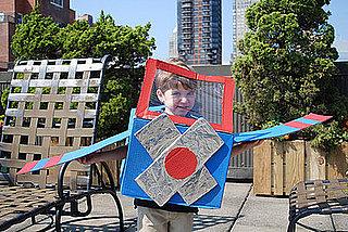 Ecoween: Cardboard Box Airplane Costume