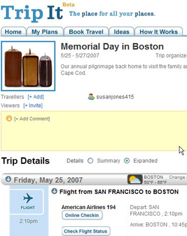 TripIt Organizes Your Itinerary For You