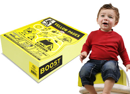Yellow Pages Booster Seat: Kid Friendly or Are You Kidding?