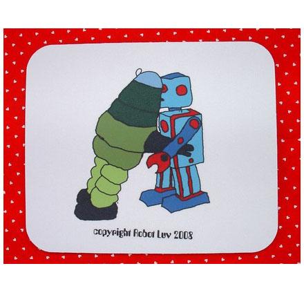 Robot Love Mousepad
