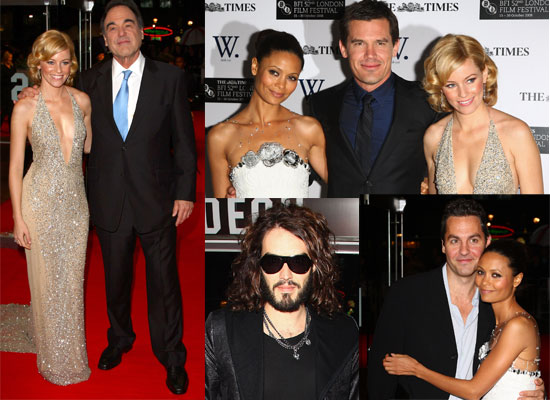 Photos Of Josh Brolin, Russell Brand, Elizabeth Banks, Thandie Newton at 2008 London Film Festival Premiere Of W