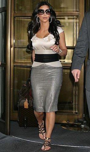 Kim Kardashian Stops By Tyra Banks Show