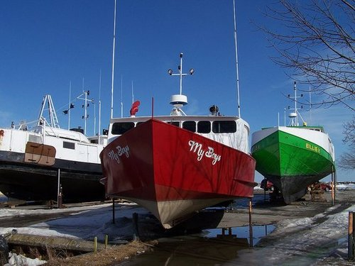 A Walk In The Boat Yard In Winter