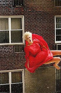 Agyness Deyn Free Falls for POP Fall 2008