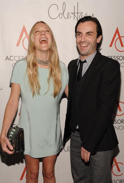 Chloe Sevigny in Balenciaga and Nicholas Ghesquiere.