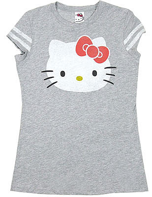 Hello Kitty Sheer Women's Athletic T-shirt - MyTeeSpot - Your T-shirt Store