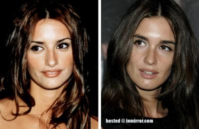 Penelope Cruz and Paz Vega -- Separated at Birth?