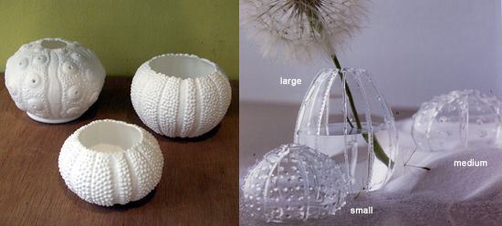 Summer Style: Sea Urchins Vase and Votive Holder