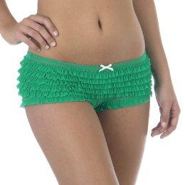 Xhilaration Ruffle Mesh Panty Garden Green ($7)