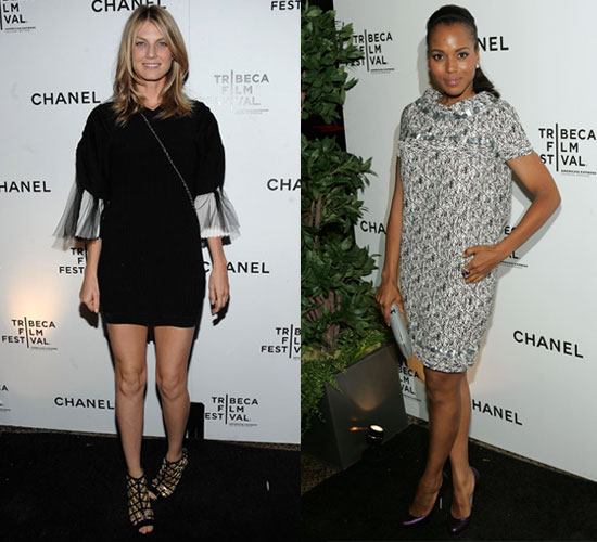 Photo of Angela Lindvall and Kerry Washington At Chanel Party In NYC