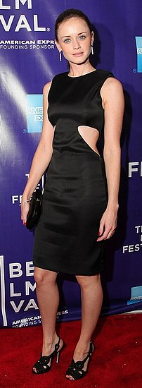 "Actress Alexis Bledel Wears a Black Cut Out Cushnie et Ochs Dress to ""The Good Guy"" Premiere at Tribeca Film Festival"