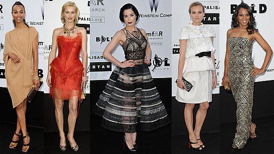 Zoe Saldana, Dita Von Teese, and Diane Kruger Attend amfAR Cinema Against AIDS at 2009 Cannes Film Festival