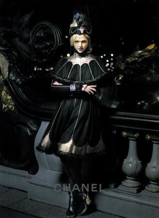 Sasha Pivovarova Models in Chanel's Russian-Inspired Pre-Fall 2009 Ads
