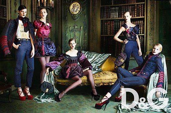 D&G Fall 2009 Ad Shot by Mario Testino