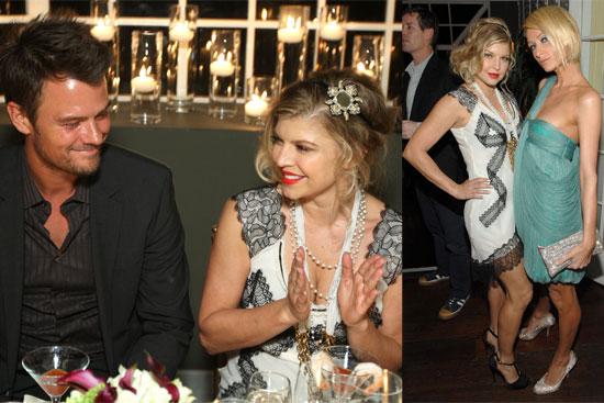 Photos of Fergie, Josh Duhamel, Paris Hilton, Nicky Hilton at Vanity Fair Party
