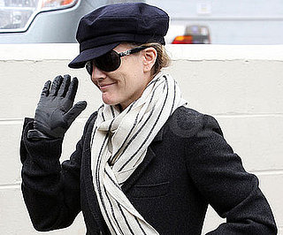 Photo of Drew Barrymore on Her Way into a Recording Studio