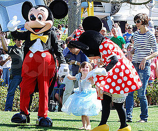Photo of Katie Holmes and Suri Cruise at Disney World in Florida