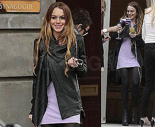 Photos of Lindsay Lohan and Samantha Ronson in London at Synagogue, Drinking, Rumors Lindsay Is Converting to Judaism