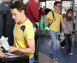 Robert Downey Jr at the Airport