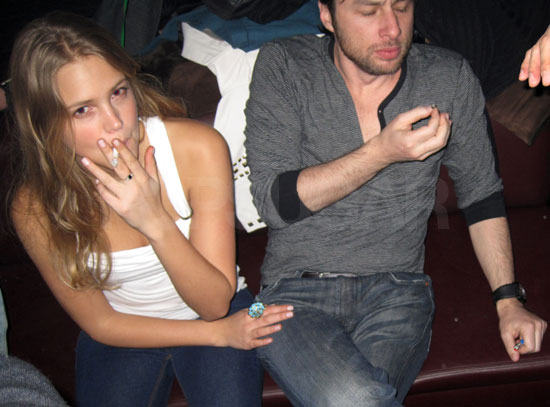 Photo of Zac Braff Smoking Marijuana