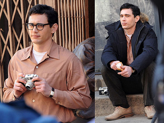 Photos of James Franco on the Set of Howl in New York City