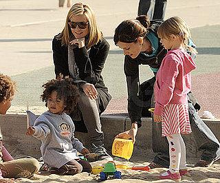 Photos of Heidi Klum with Johan and Leni at the Park
