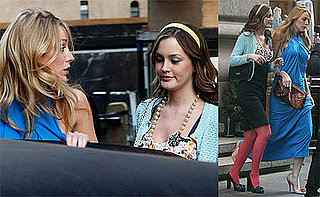 Photos of Blake Lively and Leighton Meester Filming Gossip Girl in NYC