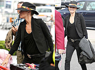 Photos of Kate Moss, Who Might Be Writing a Cookbook, at London's Heathrow Airport