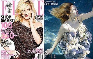 Photos and Quotes of Drew Barrymore in Elle Magazine May 2009