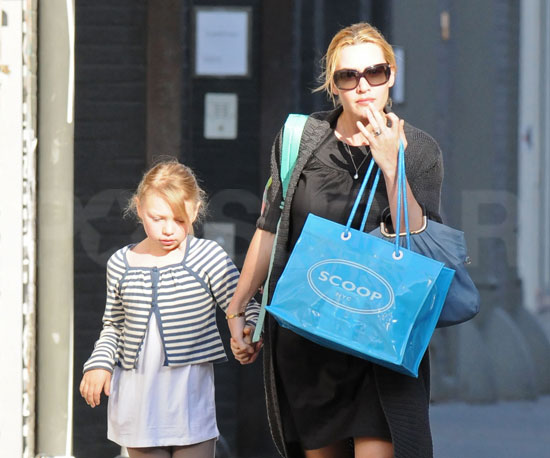 Photo of Kate Winslet and Her Daughter Mia Heading Home After Shopping in NYC