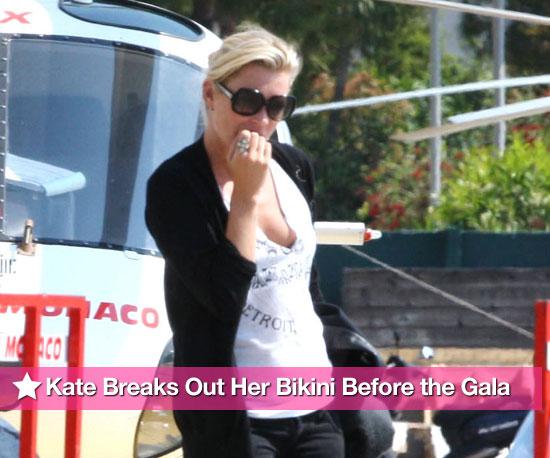 Photos of Kate Moss Topless in a Bikini with Christina Green in Monaco
