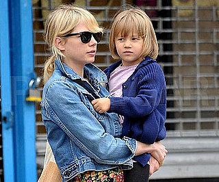 Slide Photo of Michelle Williams and Matilda Out For a Walk in Brooklyn