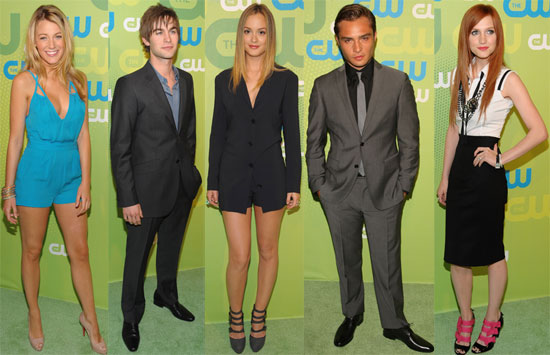 Photos of Blake Lively, Chace Crawford, Ed Westwick, Ashlee Simpson, Leighton Meester at the CW Upfront in NYC